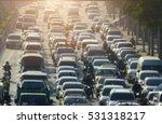 blurred traffic jam in bangkok... | Shutterstock . vector #531318217