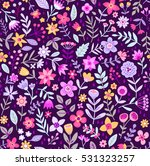 cute floral pattern in the... | Shutterstock .eps vector #531323257