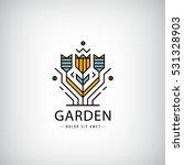vector linear logo. garden ... | Shutterstock .eps vector #531328903