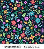 cute floral pattern in the... | Shutterstock .eps vector #531329413