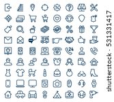 vector set of web icons for e... | Shutterstock .eps vector #531331417