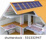 alternative heated house with
