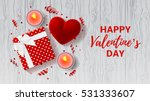 valentine's day greeting card.... | Shutterstock .eps vector #531333607
