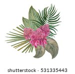 colorful floral collection with ... | Shutterstock . vector #531335443