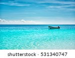 The Boat In The Caribbean Sea...