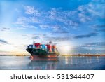 logistics and transportation of ... | Shutterstock . vector #531344407