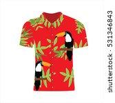 vector illustration hawaiian... | Shutterstock .eps vector #531346843