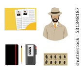 vector illustration detective... | Shutterstock .eps vector #531348187