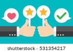 business hand thumbs up with... | Shutterstock .eps vector #531354217