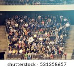 defocused background of crowd... | Shutterstock . vector #531358657