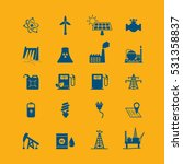 energy resources icon set .... | Shutterstock .eps vector #531358837