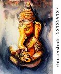 lord ganesha. meditation... | Shutterstock . vector #531359137