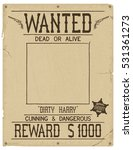 wanted. retro poster in style... | Shutterstock . vector #531361273