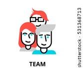 modern flat editable line... | Shutterstock .eps vector #531368713