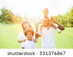 happy family group photo in the ... | Shutterstock . vector #531376867