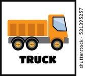 tipper truck illustration in... | Shutterstock .eps vector #531395257