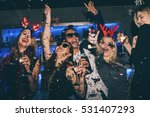 group of friends at club having ... | Shutterstock . vector #531407293