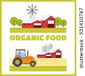 organic products. agriculture... | Shutterstock .eps vector #531410767