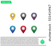 set of six round  colorful map... | Shutterstock .eps vector #531414967