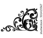 vintage baroque ornament ... | Shutterstock .eps vector #531415567