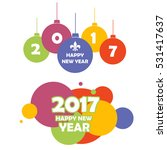 happy new year 2017.christmas... | Shutterstock .eps vector #531417637