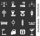 scales icon set   vector... | Shutterstock .eps vector #531419143
