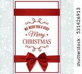 we wish you merry christmas... | Shutterstock .eps vector #531426913