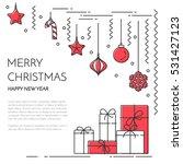 christmas  new year horizontal... | Shutterstock .eps vector #531427123