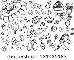 vector children's sketch.... | Shutterstock .eps vector #531435187