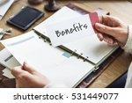 Small photo of Benefits Income Compensation Advantage Assistance Concept