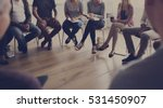people sitting in a circle... | Shutterstock . vector #531450907