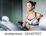 running in sports club   Shutterstock . vector #531457927