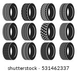 tire or wheel for truck or bus  ... | Shutterstock .eps vector #531462337