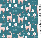 seamless pattern with cute... | Shutterstock .eps vector #531463333