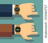 businessmans hand with wrist... | Shutterstock .eps vector #531463717