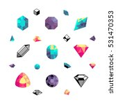 color crystals  diamond shapes