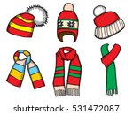 winter clothes. santa stocking... | Shutterstock .eps vector #531472087