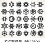 set of ornate lacy doodle... | Shutterstock .eps vector #531472723