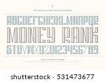 vintage money alphabet letters... | Shutterstock .eps vector #531473677
