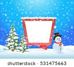 christmas landscape  winter... | Shutterstock .eps vector #531475663