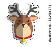 reindeer xmas cartoon icon...   Shutterstock .eps vector #531486373