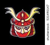 samurai head vector illustration | Shutterstock .eps vector #531490147