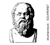 portrait of socrates. ancient... | Shutterstock .eps vector #531490987
