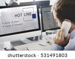 hot line customer service... | Shutterstock . vector #531491803