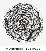 abstract ornamental rose   hand ... | Shutterstock .eps vector #53149231