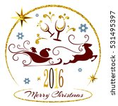 merry christmas and happy new... | Shutterstock .eps vector #531495397