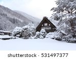 old private house in a snowy...   Shutterstock . vector #531497377