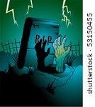 zombie halloween background | Shutterstock .eps vector #53150455