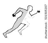 man running fitness icon vector ... | Shutterstock .eps vector #531505207