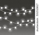 lights string bulbs isolated on ... | Shutterstock .eps vector #531510817
